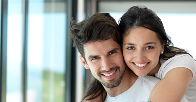 Young Couple in their rental apartment